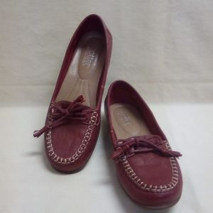 Hotter Honifer Red Leather Loafer with Tassel Tie